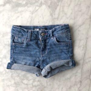 Levi toddler shorty shorts w/ heart pockets